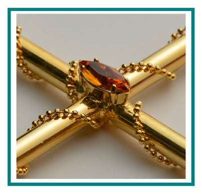 rotastyle funeral accessory manufacturer brass cross orion detail1