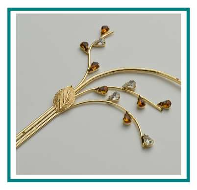 rotastyle funeral accessory manufacturer decorative branch brass gem detail3