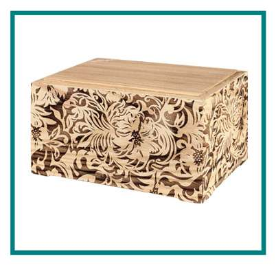 rotastyle casket manufacturer flowered threads oak detail2