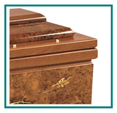 rotastyle casket manufacturer leaves in the wind mahogany detail1